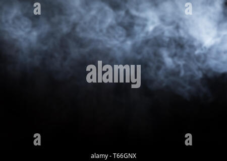 Abstrakte Rauch auf schwarzem Hintergrund Stockbild