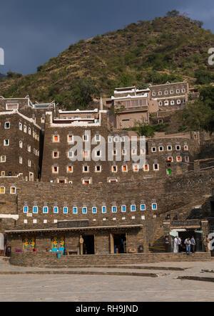 Rijal Almaa Heritage Village, Asir Provinz, Rijal Alma, Saudi-Arabien Stockbild