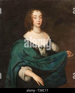 Mary Stewart, der Herzogin von Richmond und der Herzogin von Lennox (1622-1685), ehemals Lady Mary Villiers, C. 1640. In der Sammlung von Skokloster Motormuseum gefunden. Stockbild