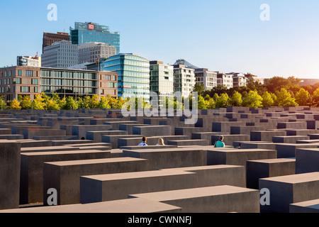 Europa, Deutschland, Berlin, Holocaust-Mahnmal in Berlin Stockbild