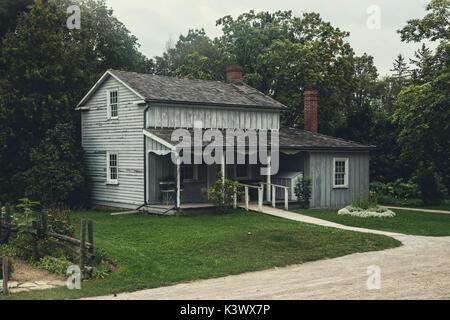 Ferienhaus aus Holz in Nordamerika Stockbild