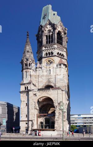 Kaiser Wilhelm Memorial Church am Kurfürstendamm, Berlin, Deutschland, Europa Stockbild