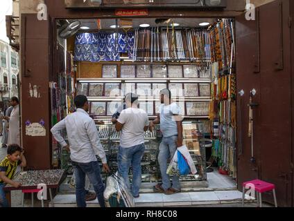Schmuck Shop, Mekka Provinz, Jeddah, Saudi-Arabien Stockbild