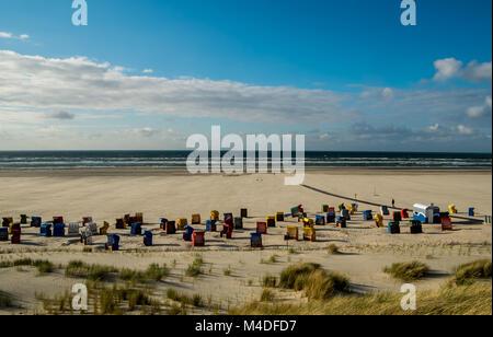 Strand von Juist Stockbild