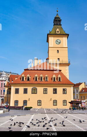 Brasov Rat Square, Brasov, Siebenbürgen, Rumänien Stockbild