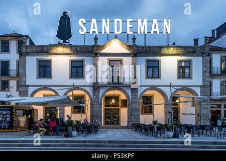 Das Haus von Sandeman, Ribeira da Gaia, Porto, Portugal Stockbild