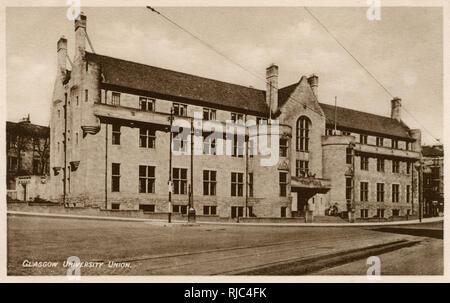 Glasgow, Schottland - Universität Glasgow - Union Building Stockbild