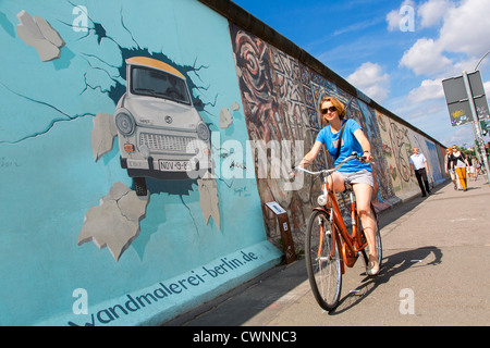 Berlin, East Side Gallery Stockbild
