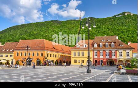 Brasov, Siebenbürgen, Rumänien Stockbild