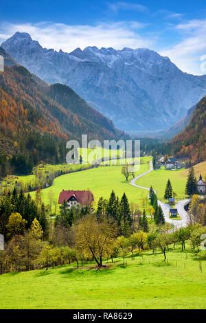 Logar-tal, Slowenische Alpen, Slowenien Stockbild