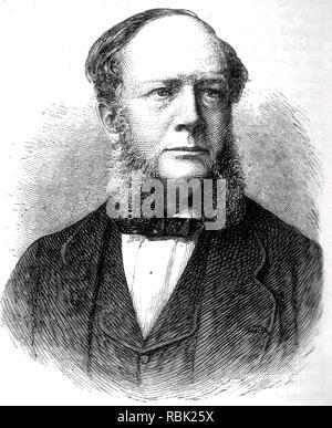 CARL WILHELM SIEMENS (1823-1883) der Deutsch-britischen enginner Stockbild