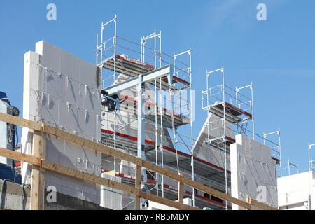 Gerüste, Baustelle, Shell, Haus, Bremen, Deutschland, Europa Stockbild