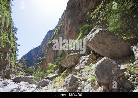 Kreta - Griechenland - Felsen von Samaria-Gorge, Europa Stockbild