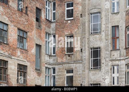 Eine Mischung aus Windows, Berlin. Stockbild