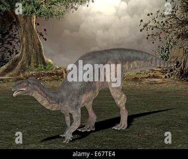 Dinosaurier Plateosaurus / Dinosaurier Plateosaurus Stockbild