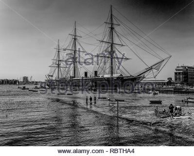 HMS Warrior Portsmouth Hampshire UK Stockbild