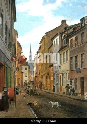 Parochialstrasse in Berlin 1831 von Eduard Gaertner deutsche Berlin 1801 ? 1877 Deutschland Stockbild