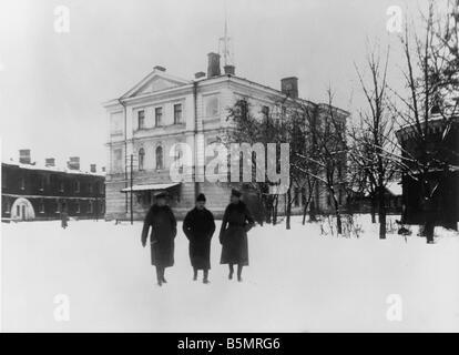 9-1917-12-15 A1 2 Konferenz Gebäude 1917 Erster Weltkrieg 1914-18 1 russische deutsche Waffenstillstands von Stockbild