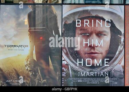 Film Poster NewYork Stockbild