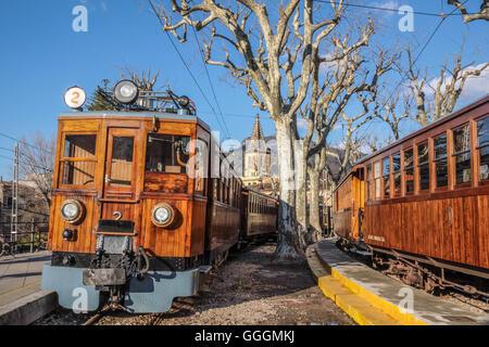 Geographie/Reisen, Spanien, Mallorca, Port de Ziel, historische Eisenbahn, Additional-Rights - Clearance-Info - Stockbild