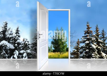 Tür 47 Stockbild
