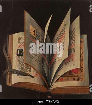Ein offenes Buch, Mitte des 16. Cen.. Private Sammlung. Stockbild