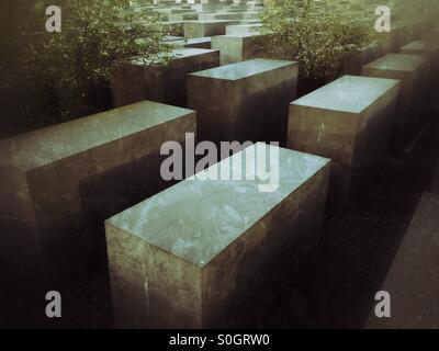 Holocaust-Mahnmal-Berlin Stockbild