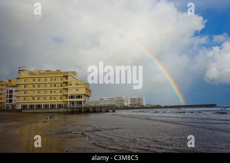 Hotel El Medano, Teneriffa, Kanarische Inseln Stockbild