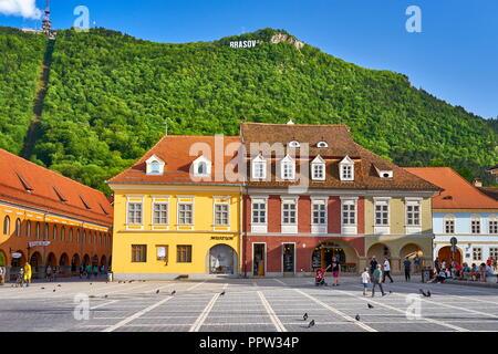 Piata Sfatului, Brasov, Siebenbürgen, Rumänien Stockbild