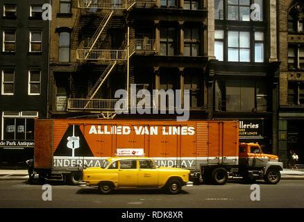 Allied Truckinh Halb amerikanischer Truck in New York USA 1977 Stockbild