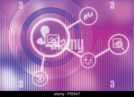 Anschauliches Bild der Business Analyse und Forschung Stockbild