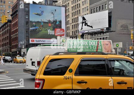 Taxi yellow cab New york Stockbild