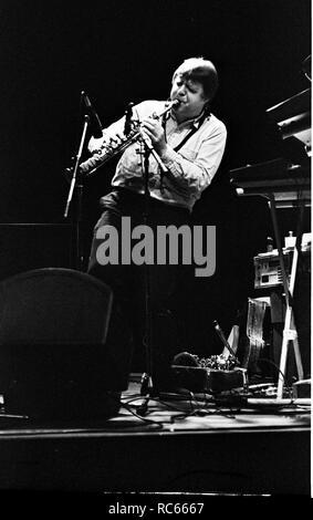John Surman, Hawth, Crawley, West Sussex, Jan 1989. Stockbild
