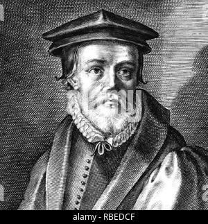 JOHN BRADFORD (1510-1555) Kirche von England Reformer ausgeführt für die angeblichen Verbrechen gegen Mary Tudor Stockbild