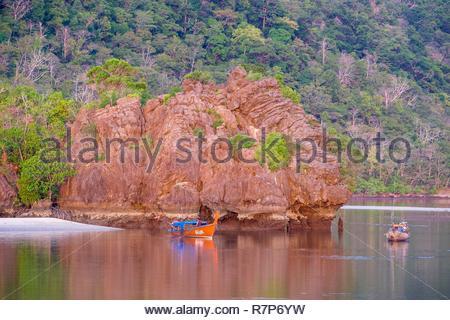 Thailand Songkhla Provinz, Tarutao National Marine Park, Ko Tarutao Insel, Mündung des Flusses, in der Nähe von Ao Pante Malacca Jetty Stockbild