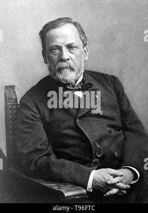 Louis Pasteur (Dezember 27, 1822 - September 28, 1895) war ein französischer Chemiker und bakteriologe, der die Wissenschaft der Mikrobiologie gegründet. Weide entdeckt, dass Krankheit verursacht wurde, könnte durch Bakterien übertragen von Person zu Person (die Mikrobe Theorie der Krankheit). Er entwickelte auch Impfstoffe gegen Tollwut und Milzbrand. Pasteur fand auch, daß leicht Heizung Nahrungsmittel und Getränke aus Säuern bewahren konnte. Die Pasteurisierung wird jetzt weit in der Lebensmittelindustrie eingesetzt. Stockbild