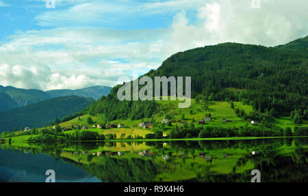Fjordland, westlichem Norwegen. Stockbild