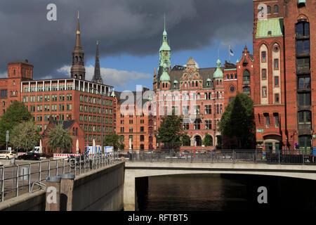 Die Speicherstadt, HafenCity, Hamburg, Deutschland, Europa Stockbild