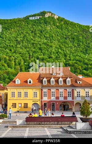 Brasov Old Town, Siebenbürgen, Rumänien Stockbild