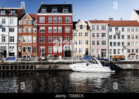 Historische Architektur, Nyhavn, Kopenhagen, Dänemark Stockbild