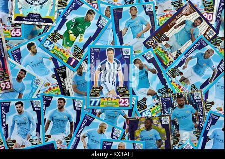 Manchester City Match Attax Stockbild