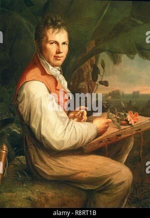 """""""Portrait von Alexander von Humboldt"""", 1806, Öl auf Leinwand, 126 x 92,5 cm. Autor: Weitsch Übersetzung: Helge Moog, Friedrich Georg. Lage: staatlichen Museum. BERLIN. Deutschland. Stockbild"""