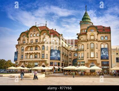 Black Eagle Palace, Pia?a Unirii, Oradea Stockbild