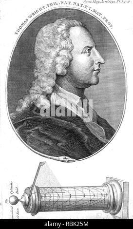 THOMAS WRIGHT (1711-1786) Englischer Mathematiker und Astronom Stockbild