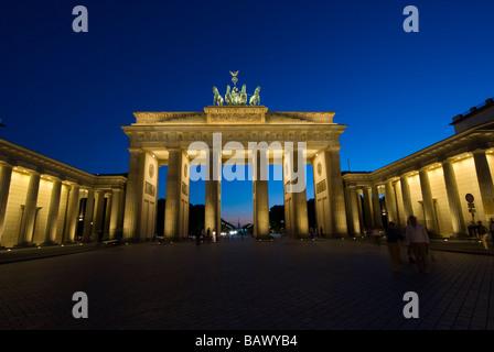 Brandenburger Tor Berlin Deutschland Stockbild