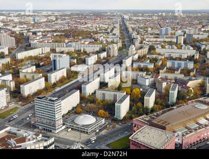 Blick auf Ost-Berliner, Berlin, Deutschland, Europa Stockbild