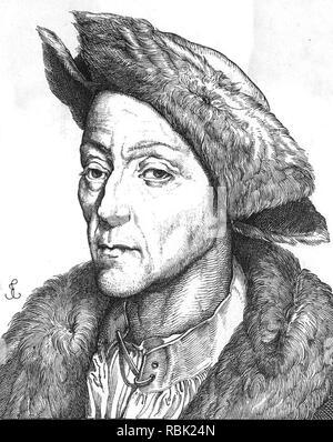JAKOB FUGGER (1459-1525), deutscher Kaufmann, Bankier und Unternehmer im Bergbau Stockbild