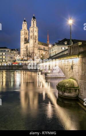 Zürich, Limmat, Schweiz Stockbild