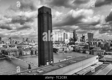 Stadt Blick über London und die Themse. Stockbild