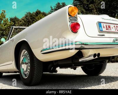 1963 Maserati 3500 GT Cabriolet von Touring Superleggera von Mailand Stockbild